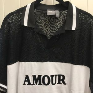 Mesh oversized amour polo